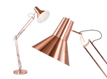 Bronx Giant Floor Lamp, Brushed Copper
