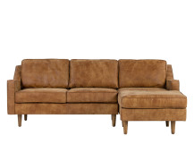 Dallas Right Hand Facing Chaise End Sofa, Outback Tan Premium Leather