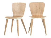 2 x Edelweiss Dining Chairs, Ash and White