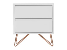 Elona bedside table, grey and copper