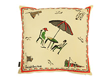 Holiday Square Scatter Cushion 45 x 45cm, Italian Green