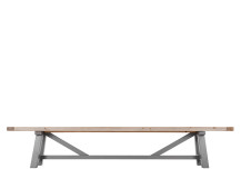 Iona Bench, Solid Pine and Grey