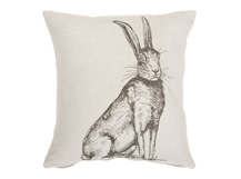 Hare Large Scatter Cushion 50x50cm, Silver