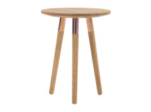 Range Side Table, Solid Oak and Copper
