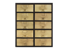 Stow Large Storage Unit, Brass