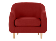 Tubby Armchair, Postbox Red