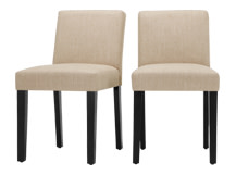 2 x Wilton Dining Chairs, Biscuit Beige