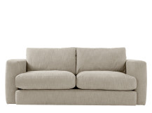 Walter 3 seater sofa, Stone Cotton
