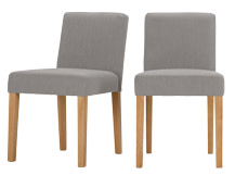 2 x Wilton Dining Chairs, Graphite Grey