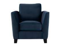 Wolseley Armchair, Navy Velvet