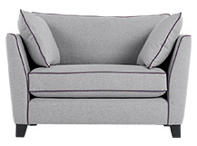 Wolseley Love Seat, Wolf Grey Wool Mix