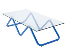 Zig Zag Coffee Table, Blue