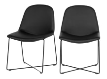 2 x Amicus Dining Chairs, Crow Black