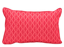 Lulu Rectangular Cushion 60 x 40cm, Raspberry and Coral