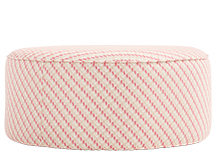 Lulu Medium Pouffe, Neutral and Raspberry