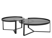 Aula Nesting Coffee Tables, Black and Grey