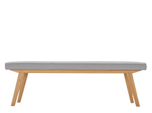 Aveiro Bench, Oak and Persian Grey