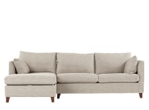 Bari Left Hand Facing Corner Storage Sofa Bed, Malva Linen