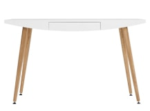 Camber Desk, White & Oak