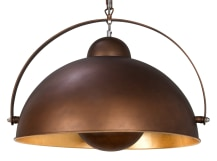 Chicago Pendant Light, Antique Copper and Gold