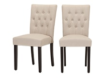 2 x Flynn Dining Chairs, Putty Beige