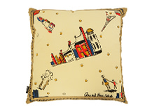 Holiday Square Scatter Cushion 45 x 45cm, French Blue