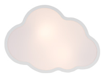 Hollywood Cloud Wall Lamp, Textured White
