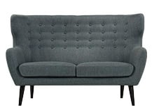 Kubrick 2 Seater Sofa, Anthracite Grey