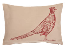 Pheasant Rectanglar Scatter Cushion 60 x 40cm, Maroon