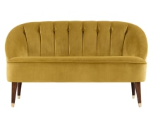 Margot 2 Seater Sofa, Antique Gold Velvet