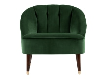 Margot Accent Chair, Forrest Green Velvet