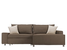 Mayne Right Hand Facing Corner Sofa Bed, Grouse Brown