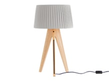 Miller Table Lamp, Natural Wood and Navy