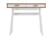 Mini Stroller Desk, Oak and White