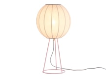 Mist Table Lamp, Blush Pink and White