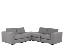 Mortimer Modular Corner Sofa Group, Shadow Slate Grey