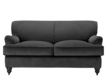 Orson 2 Seater Sofa, Smoke Velvet