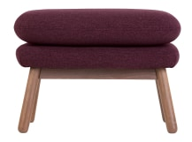 Oslo Footstool , Malbec with Dark Stained Oak Legs