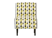 Piccadilly Accent Chair, Sulphur and Grey Print