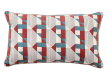 Piccadilly Cushion, 30 x 50 cm, Claret & Teal