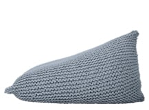 Purl Giant Knitted Beanbag, Overcast Blue