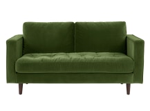 Scott 2 Seater Sofa, Grass Cotton Velvet