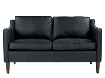 Walken 2 Seater Sofa, Black Premium Leather