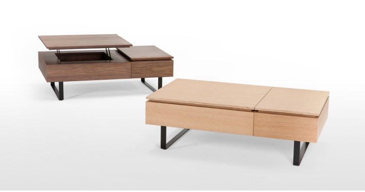 Flippa Functional Coffee Table with Storage Oak