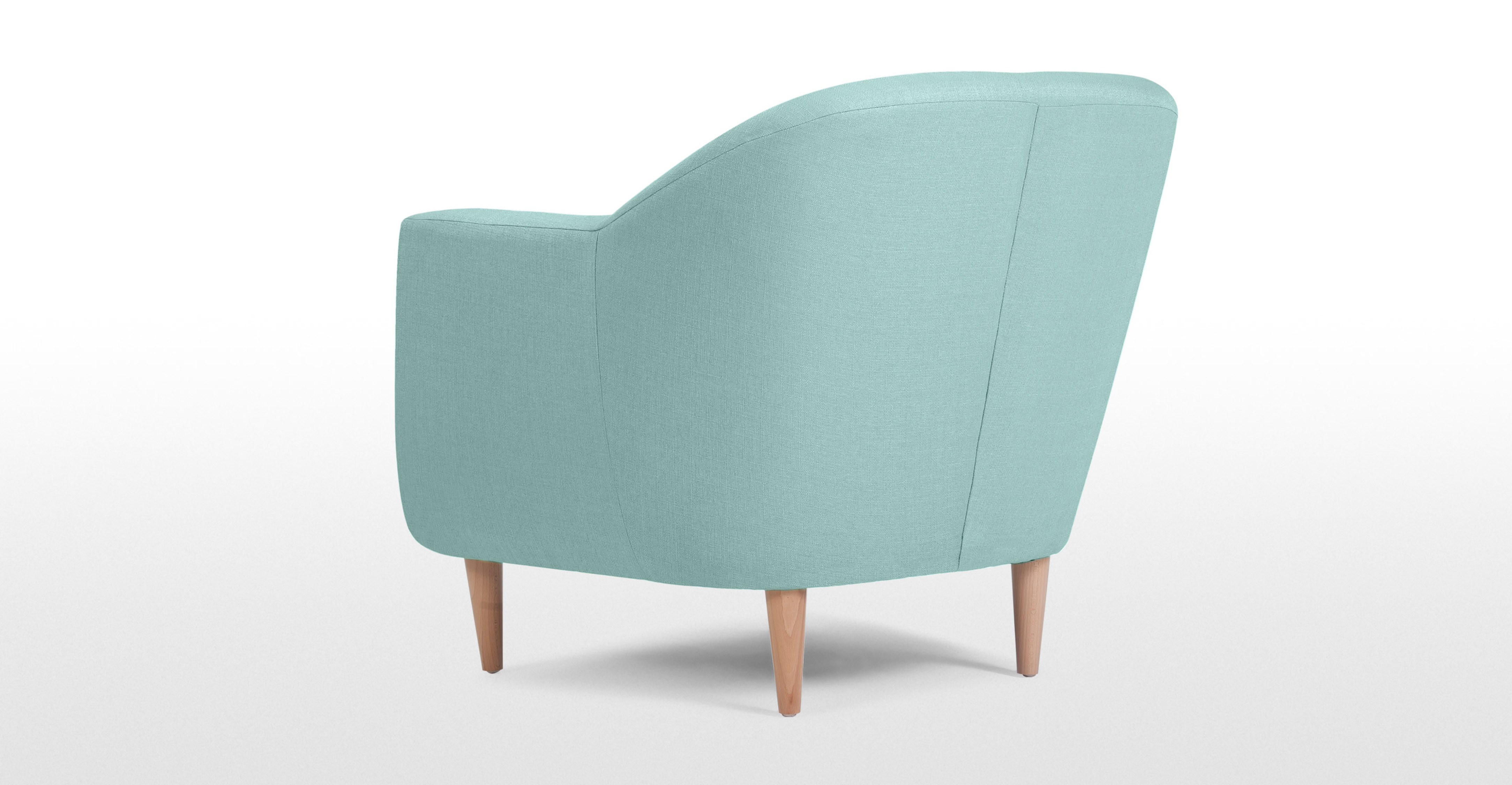 Tubby fauteuil in turkooisblauw for Poltrone online shop