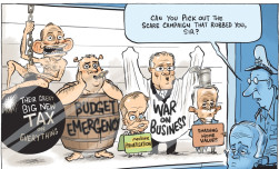 David Pope, Post-election Line-up, Canberra Times, 7 July 2016.
