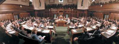 The last sitting of the House of Representatives in May 1988.