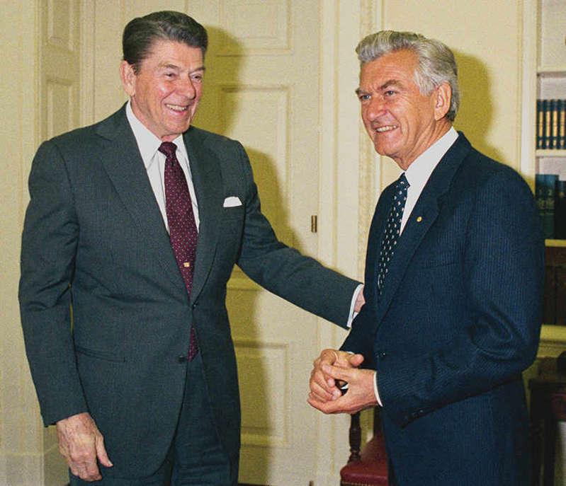 Ronald Reagan and Bob Hawke