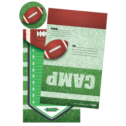 Picture of Football Foldover Cards