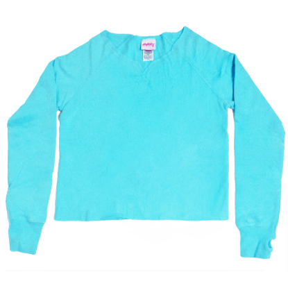 Picture of Turquoise Cut-Off Sweatshirt